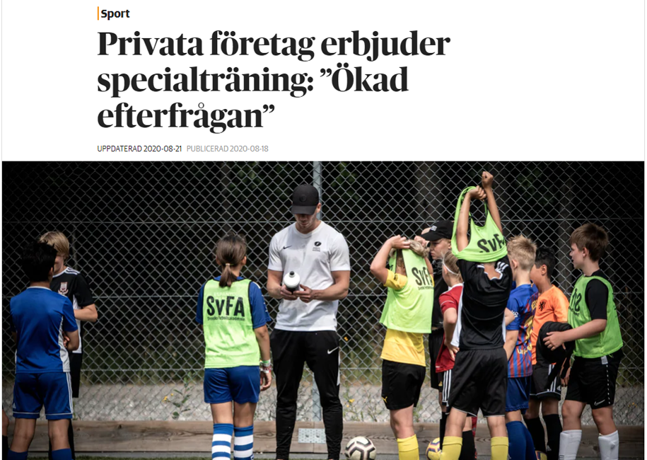 Reportage i Dagens Nyheter